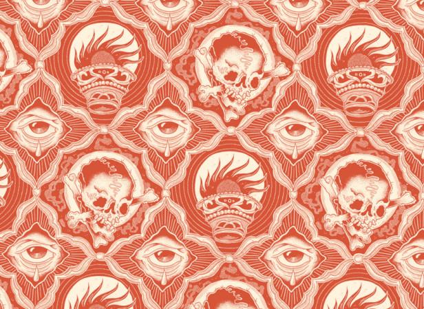 Skull and Eye Pattern