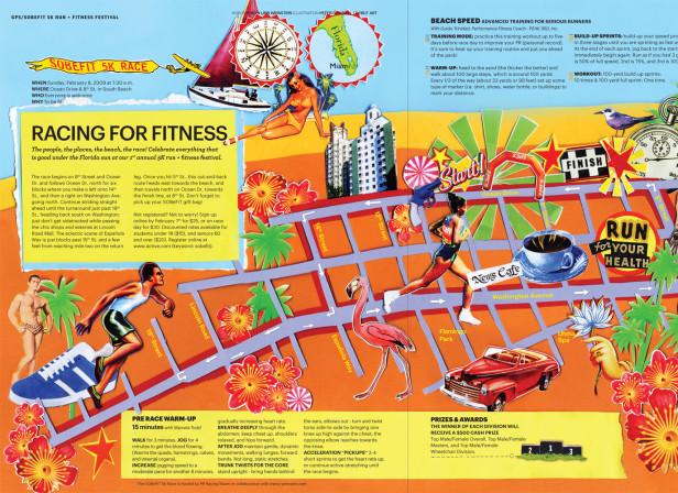 Running Race Map Miami