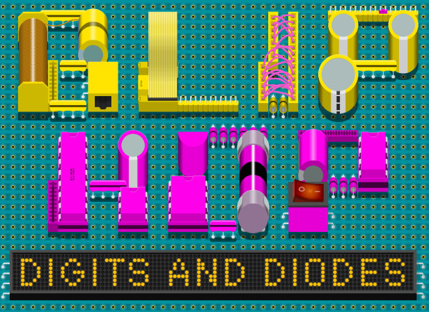 EMI Records Blip Hop Digits And Diodes CD Cover