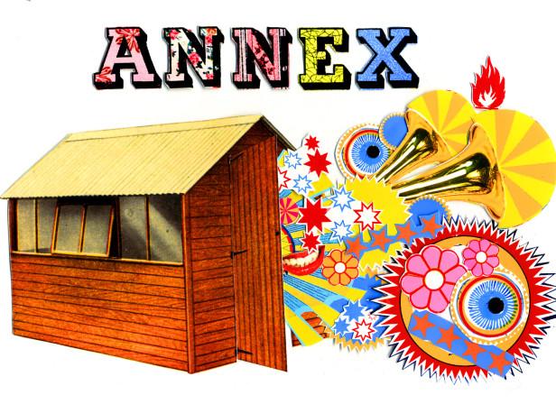 Annex Shed Celebration Lettering