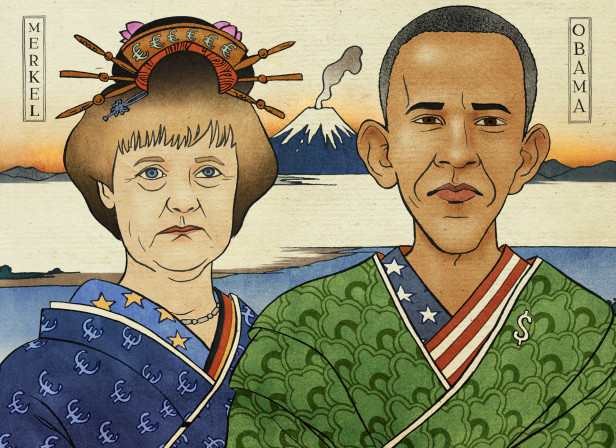 Merkel Obama Japanese / The Economist