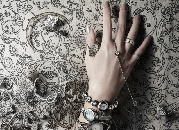 Stylist Watches Hand