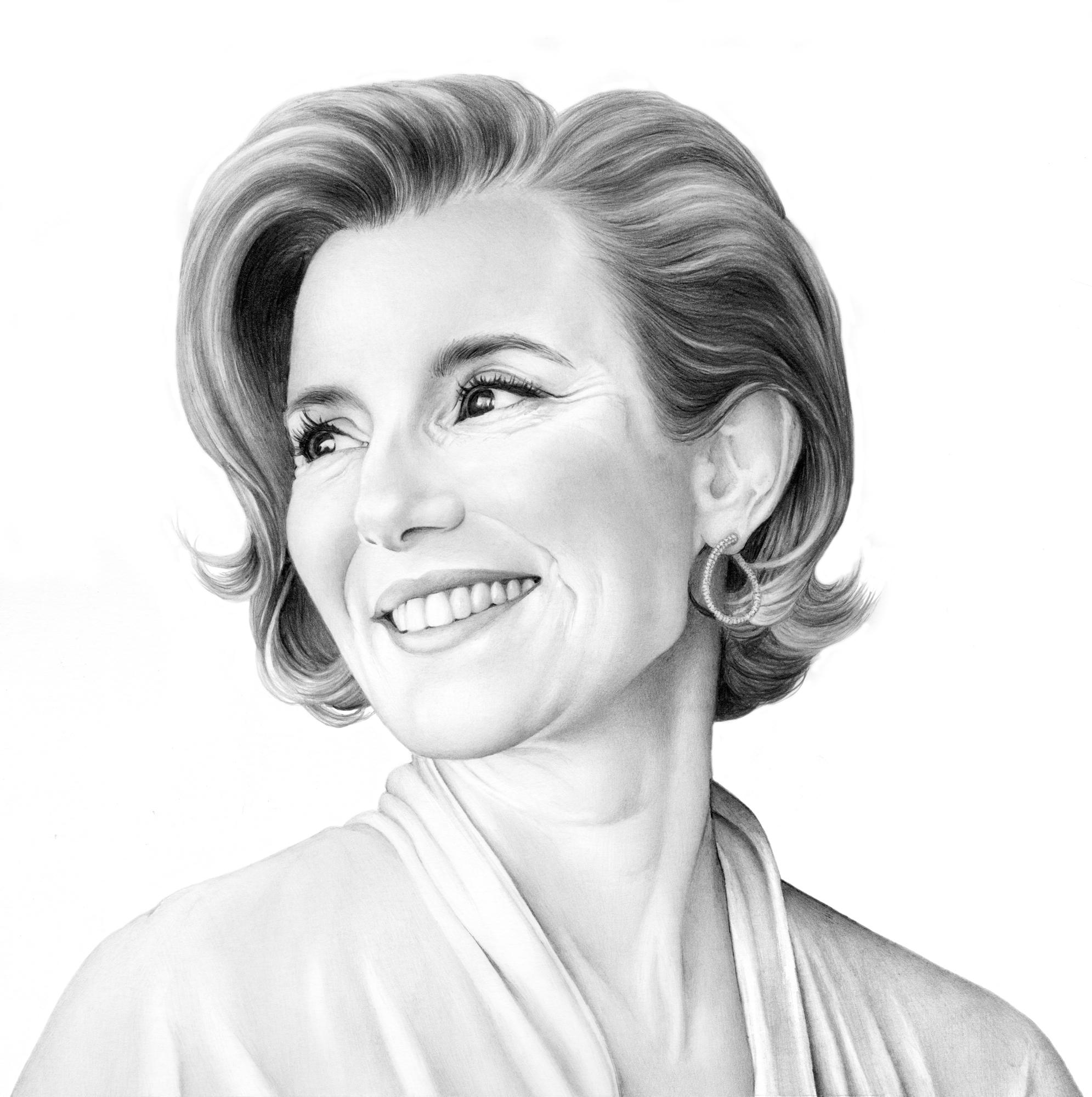 Woman Smiling Portrait Cath Riley Debut Art