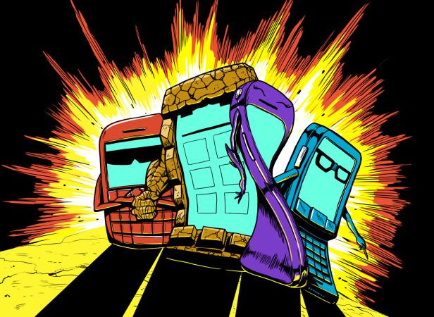 Comic Book Superhero Mobile Phones