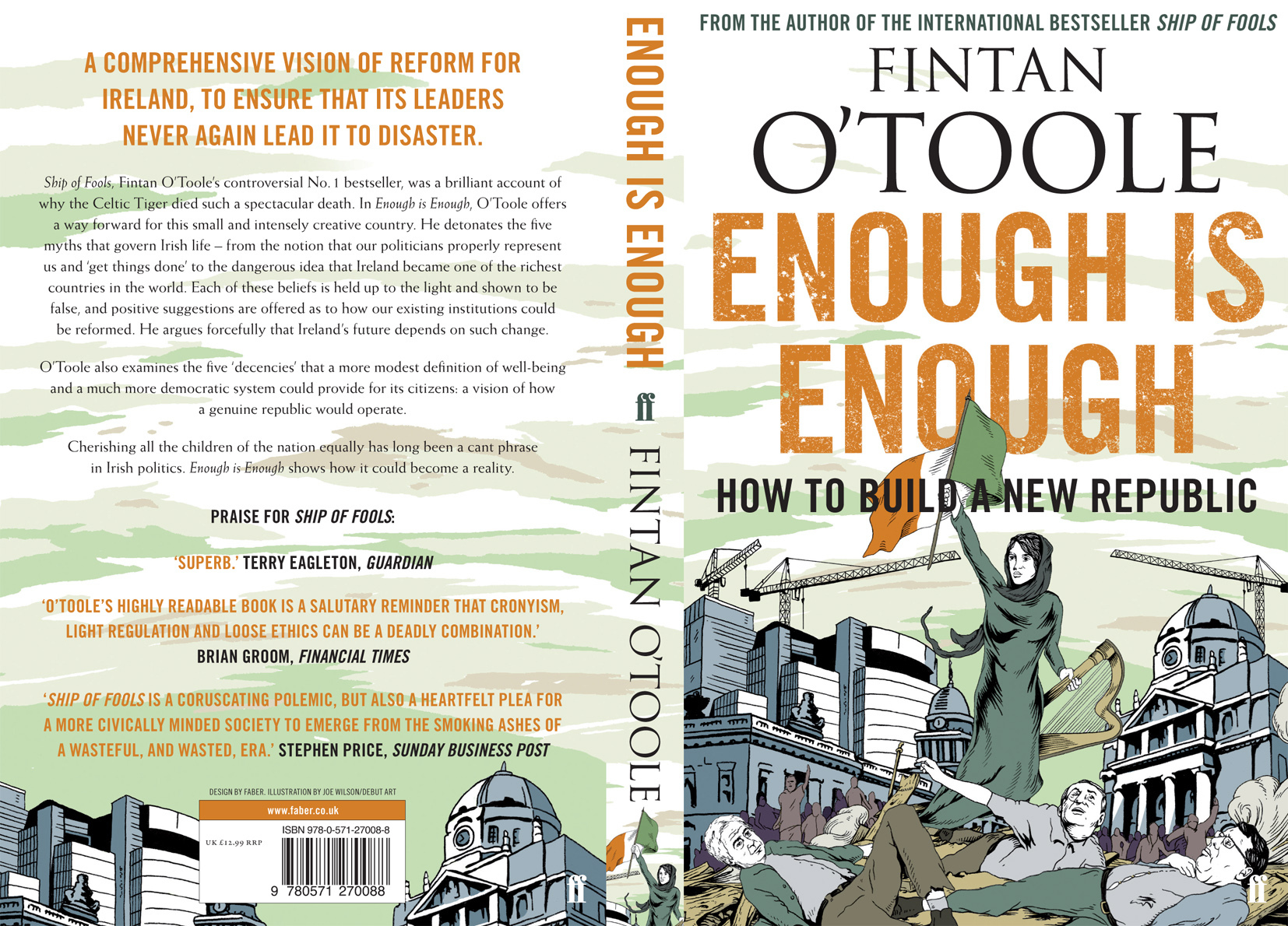 Fintan O'Toole Book Cover - Enough Is Enough
