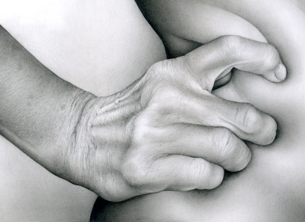 Male Hand Grasping Female Flesh