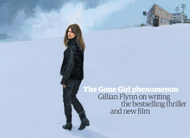 Gillian Flynn Cover / The Guardian Review Magazine