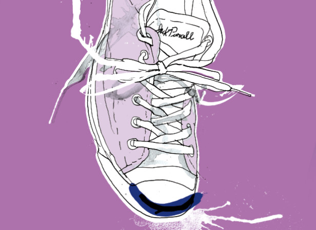 Converse Jack Purcell Smile Purple
