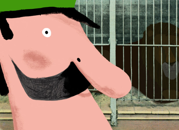Mr Peek And The Misunderstanding At The Zoo Lion cage