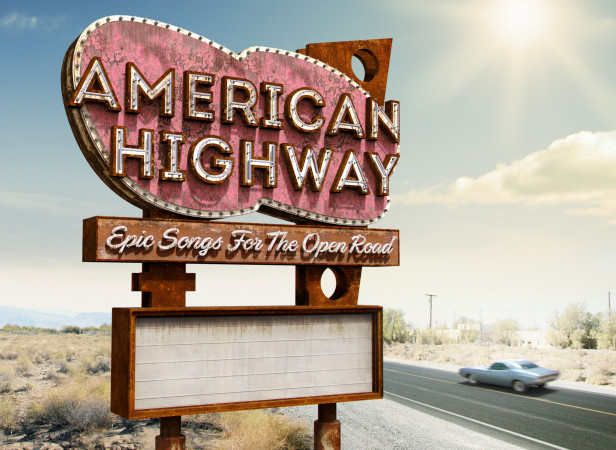 American Highway Retro Neon Sign CD Cover