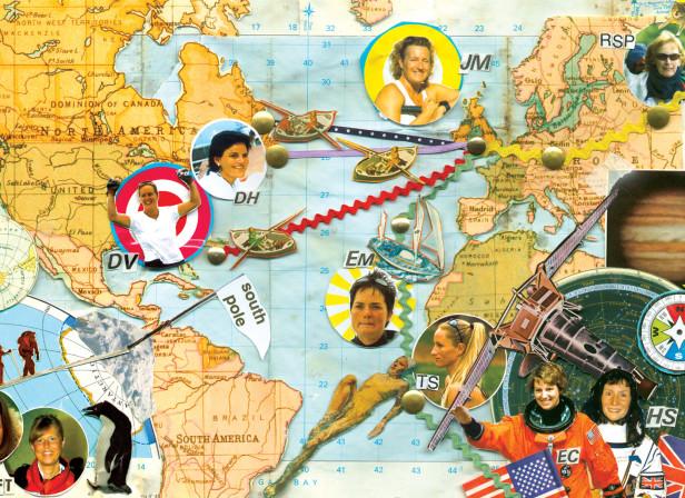 Women Adventurers Explorers Map