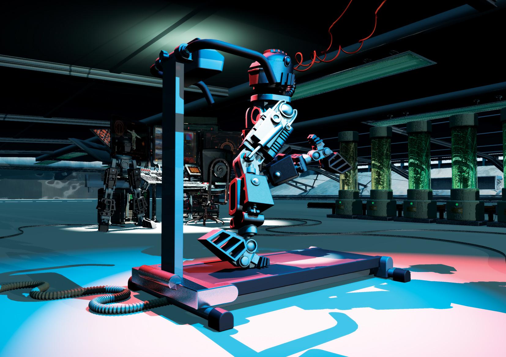 Running Robot / Men's Health magazine