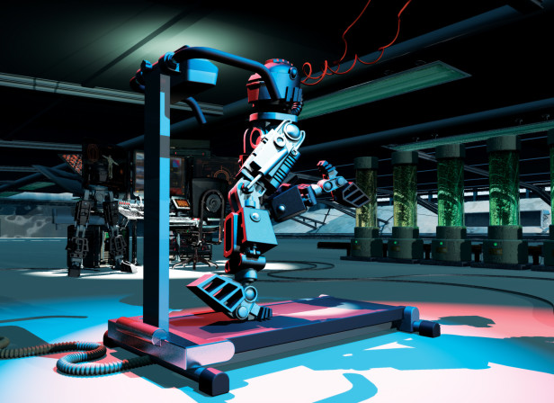 Running Robot / Men's Health magazine
