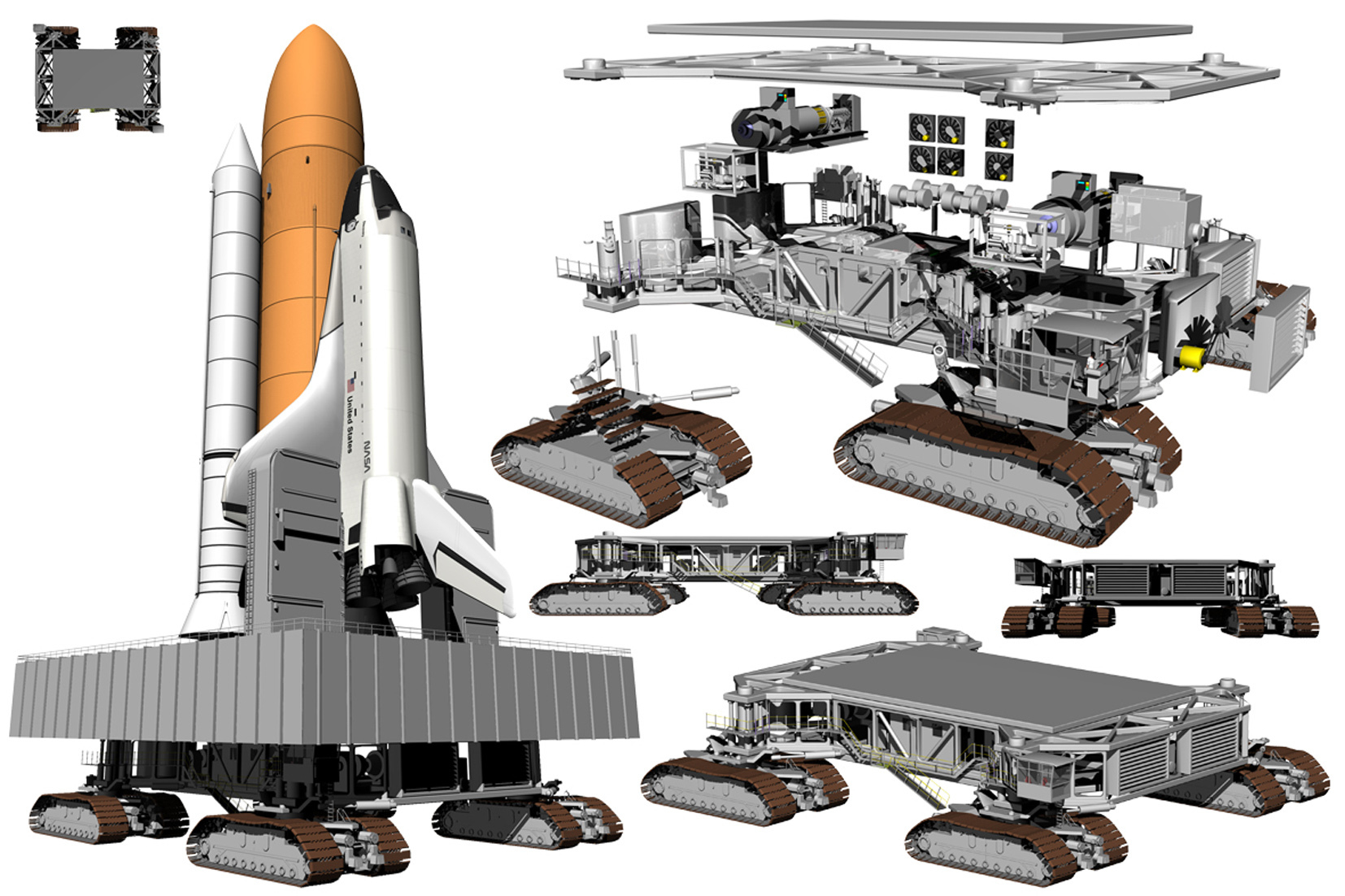 Space Shuttle And Crawler