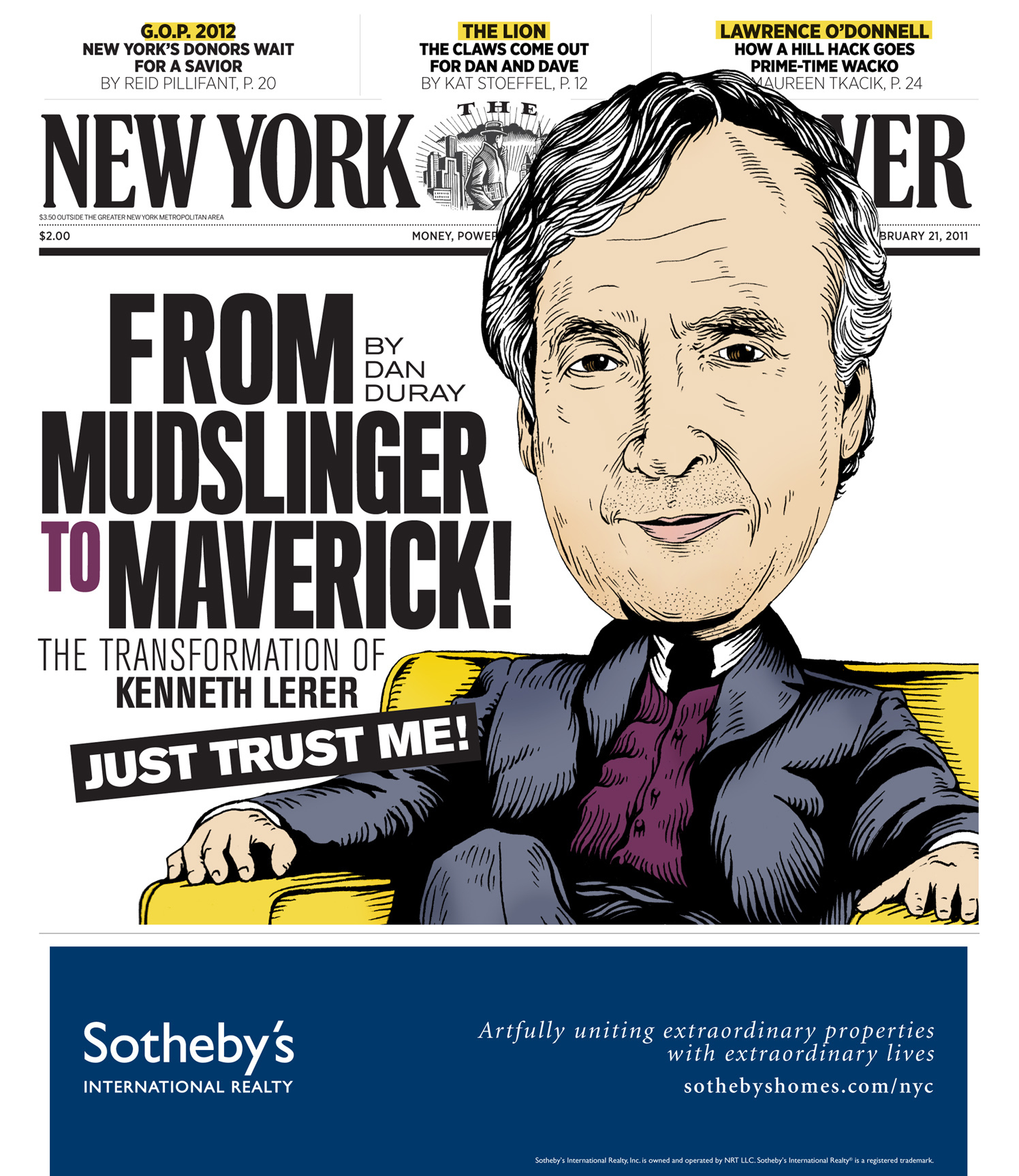 From Mudslinger To Maverick! / The New York Observer