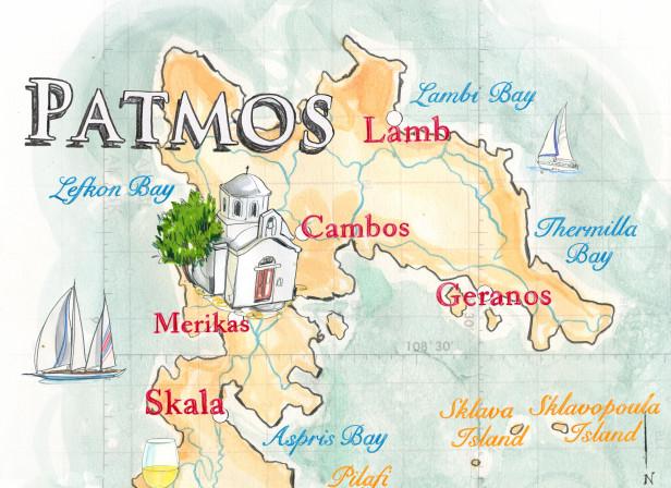 Patmos Literary Map