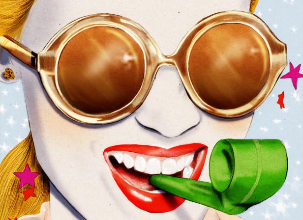 Karen Walker Sunglasses Birthday Party