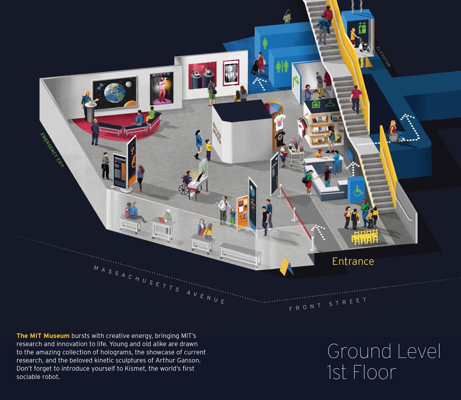 1st Floor / MIT Museum Map