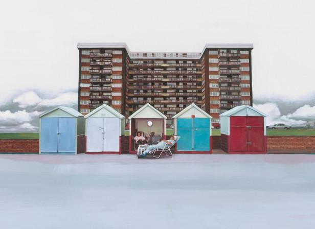 Brighton Beach Huts AOI Illustration Award Winner