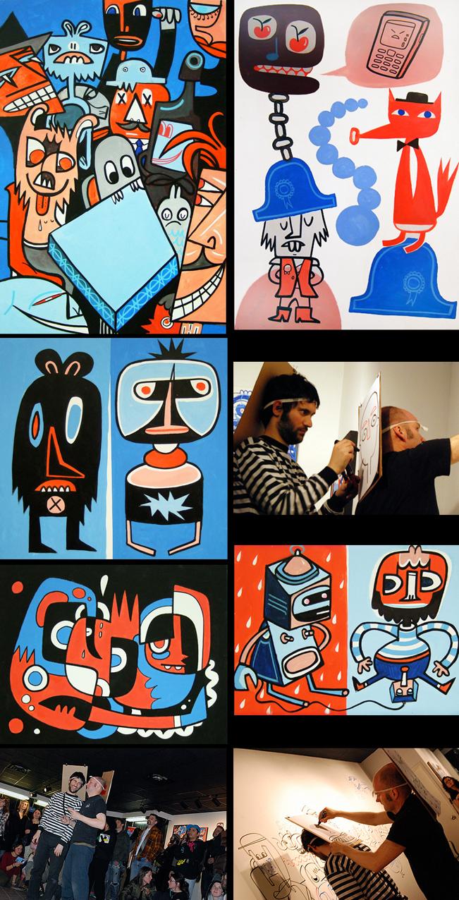 Jon Burgerman Anxiety Room Exhibition At Factory Fresh Nyc News Debut Art