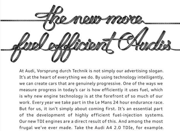 Alex Trochut / The New More Fuel Efficient Audis Posters