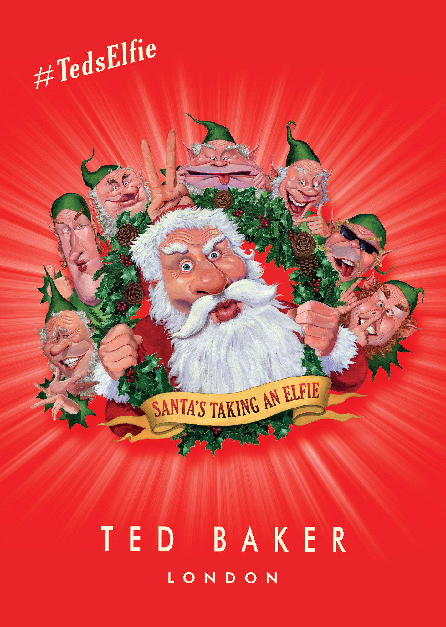 Jon Berkeley - for Ted Baker's Xmas in-store campaign