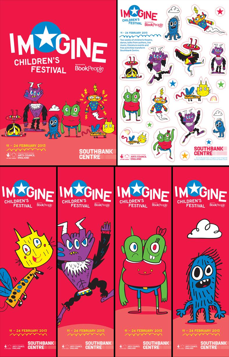 Jon Burgerman - Southbank Centre Imagine Children's Festival