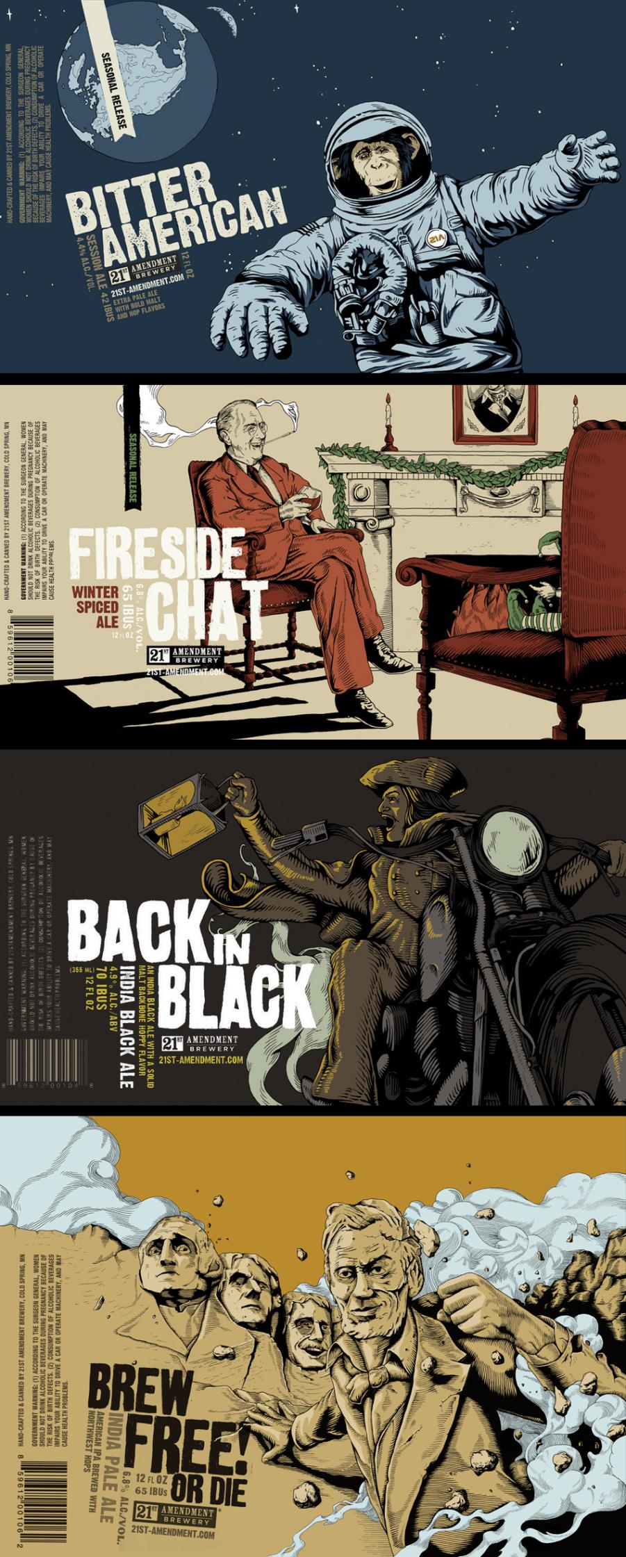 Joe Wilson / 21st Amendment Beer Packaging
