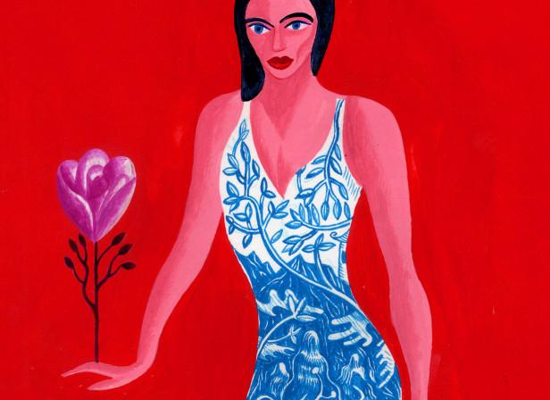 Willow Pattern Fashion Dress