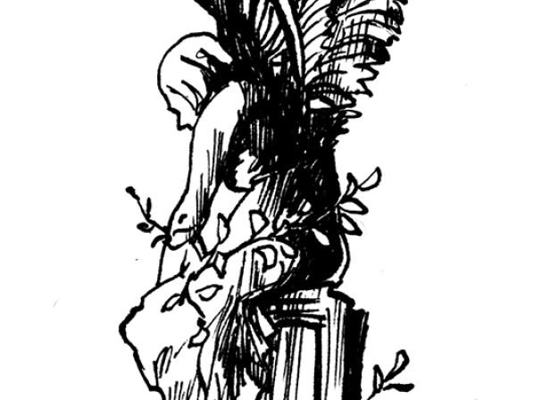 Penguin Curiocity Cemetery Stone Angel