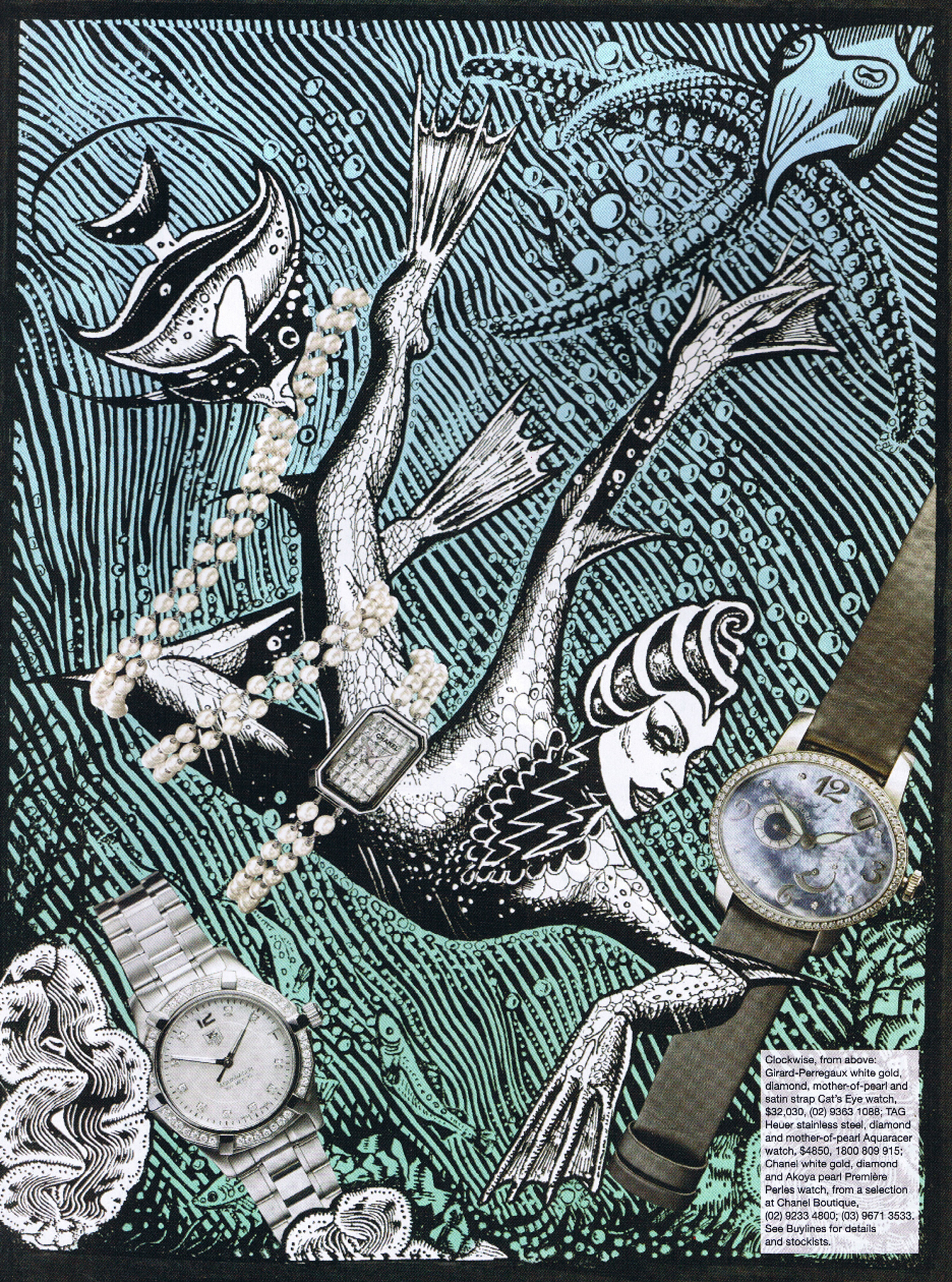 Aqua Girl Watches / Harpers Bazaar