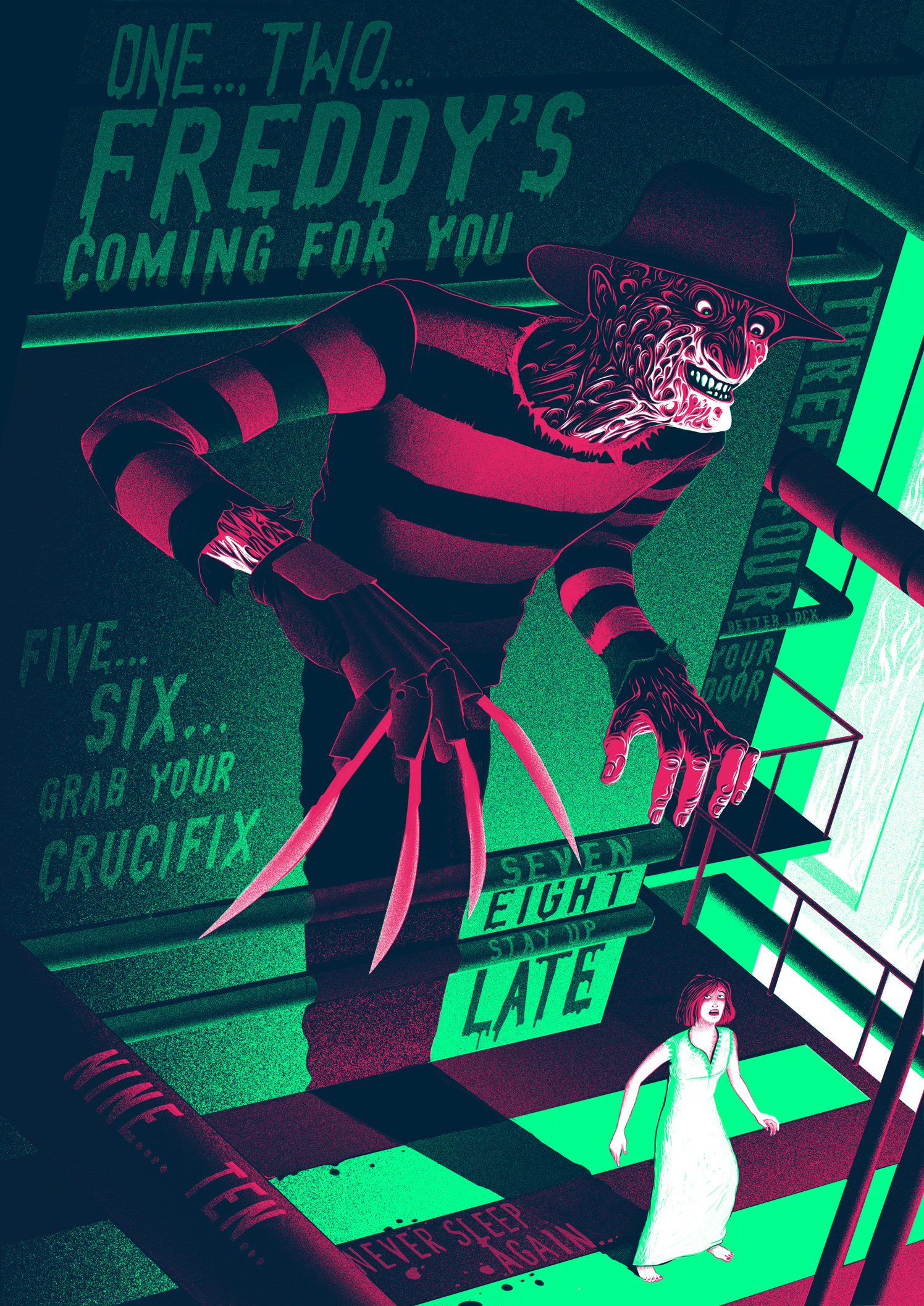 Nightmare On Elm Street / Super Evil Posters