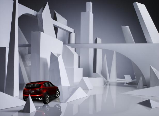 Mazda Magazine Paper Cityscape