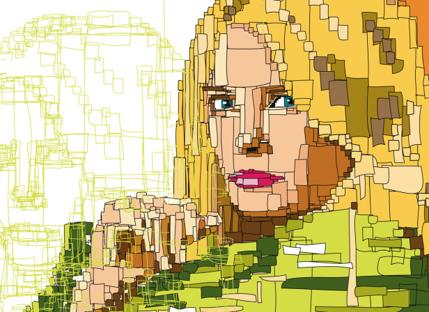 Girl Cover Computer Illustration