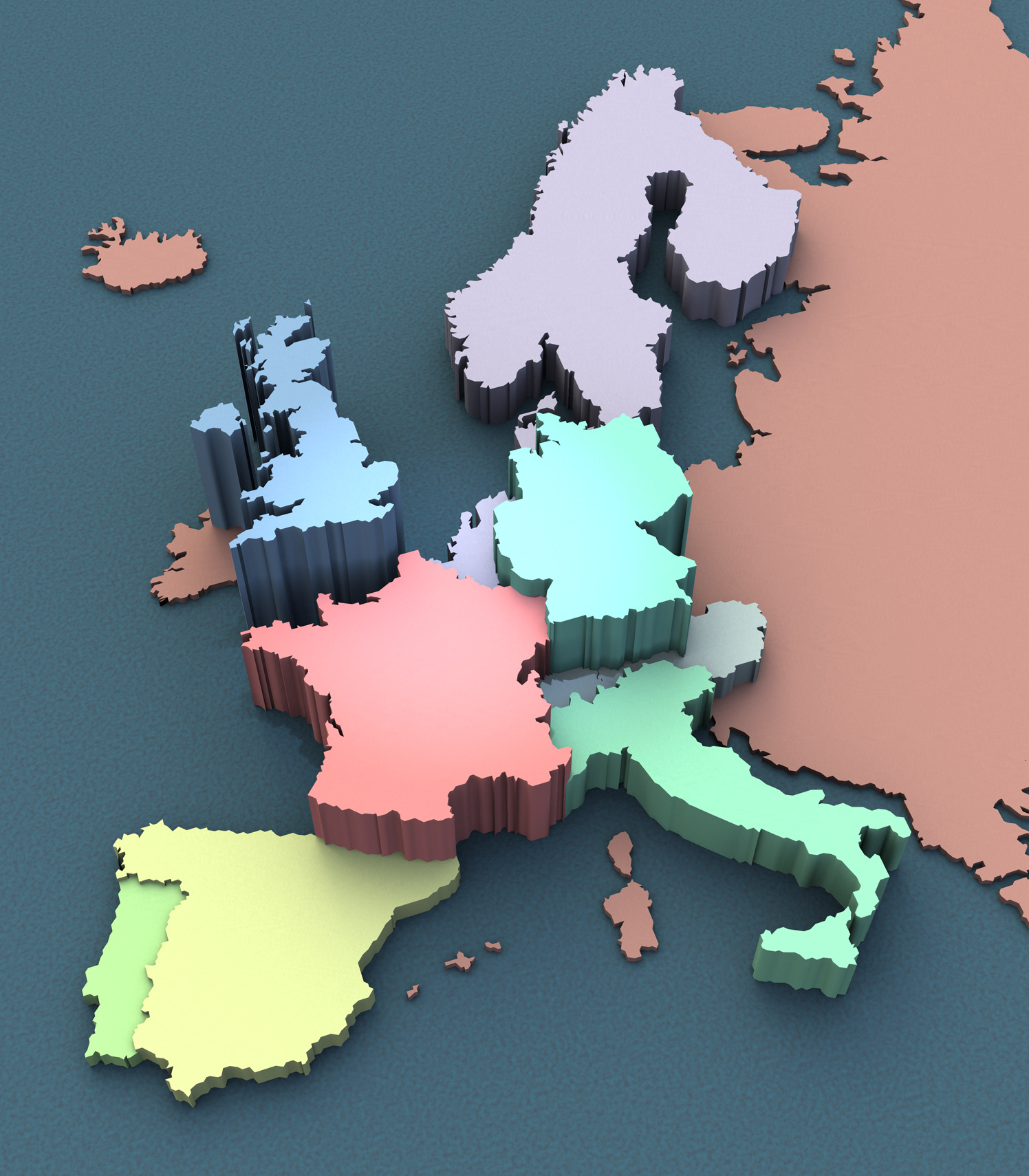 3D Europe Map
