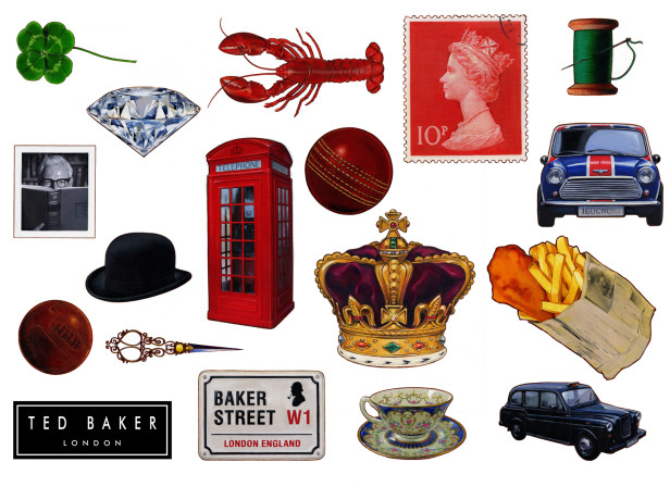 Ted Baker Jubilee Window Elements