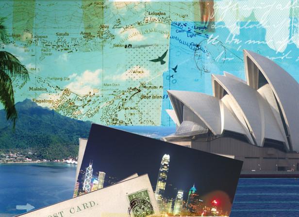 Postcard Cruise Australia Hong Kong AAA Traveler Magazine