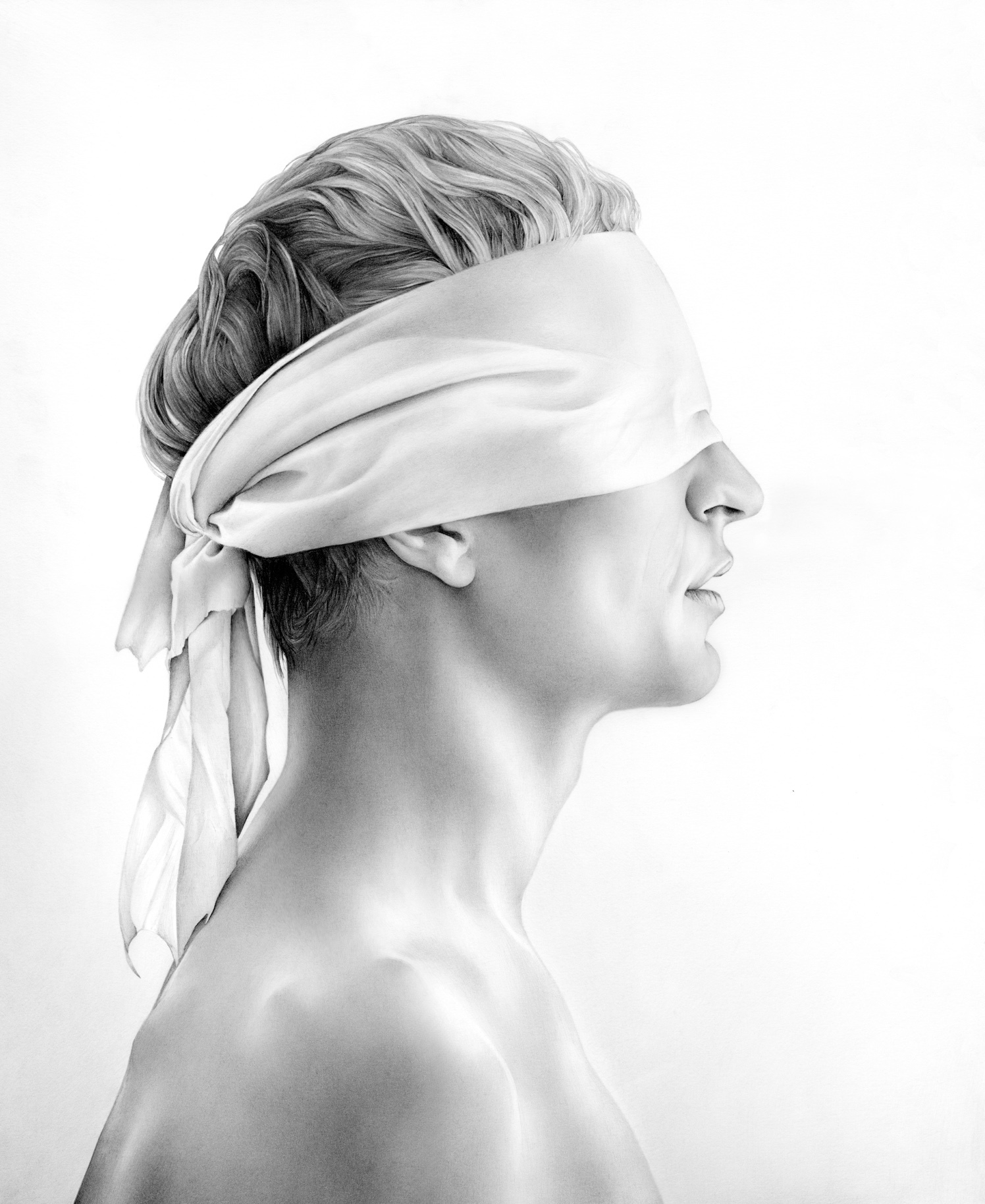 Blindfolded Man In Profile