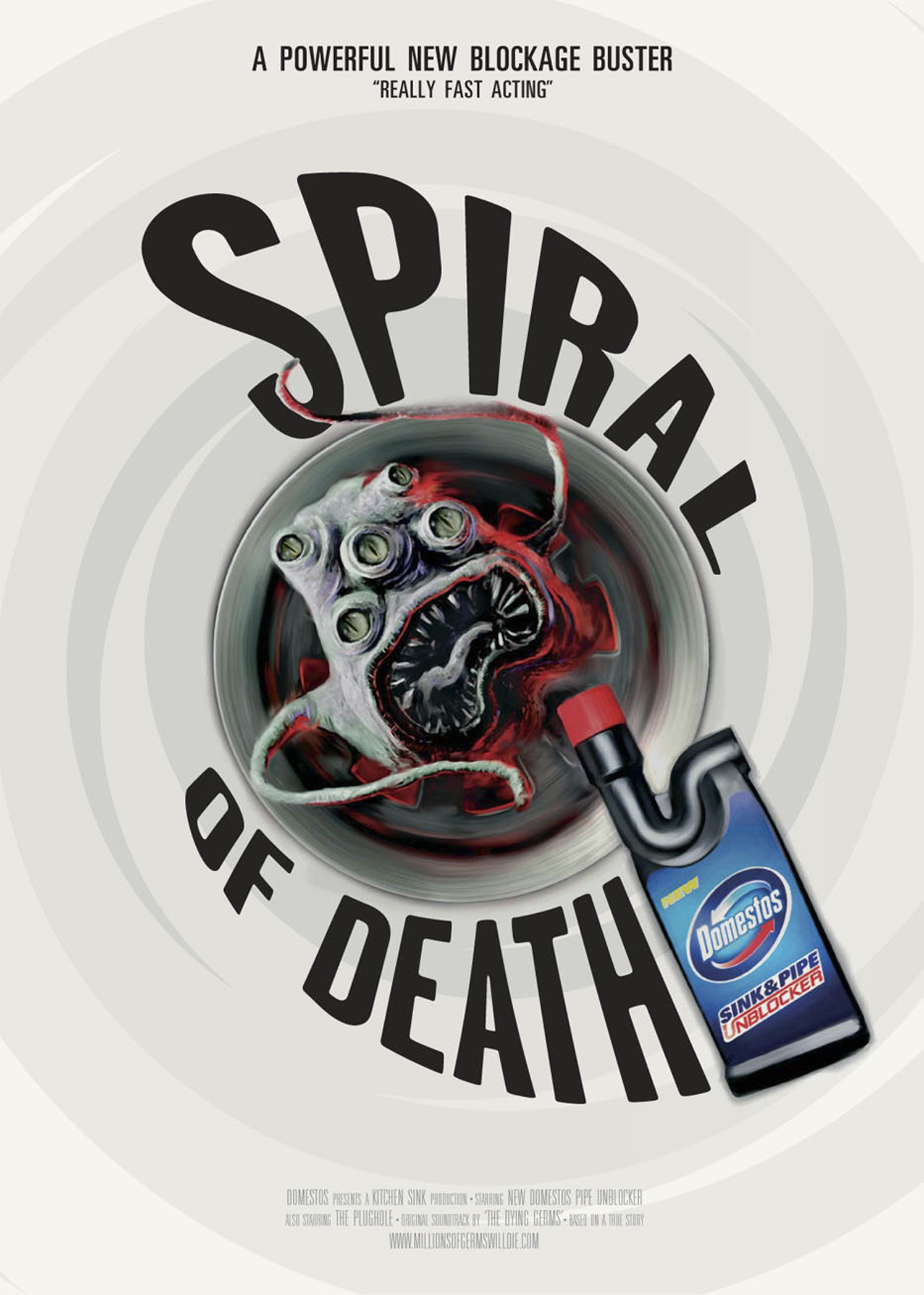 domestos spiral of death