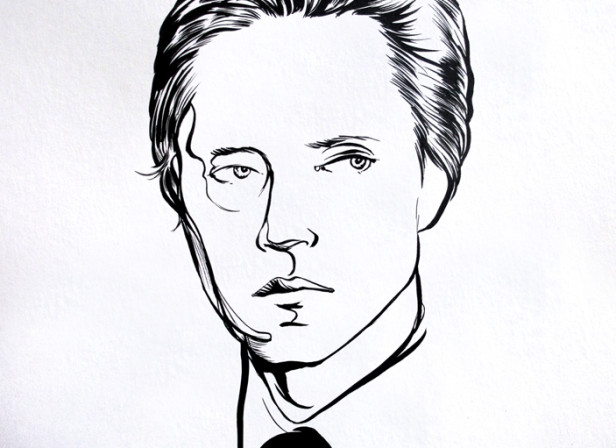 Christopher+Walken+for+Colette+Générique+Exhibition.+Ink+on+paper.jpg