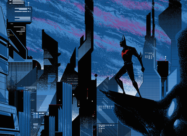 Mondo Batman Beyond Mondo Screenprinted Poster