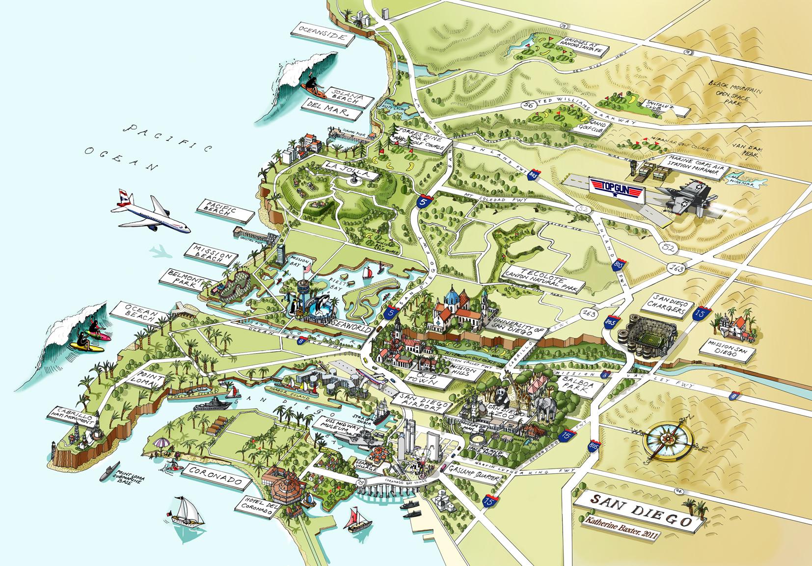 San Diego Map / Meredith