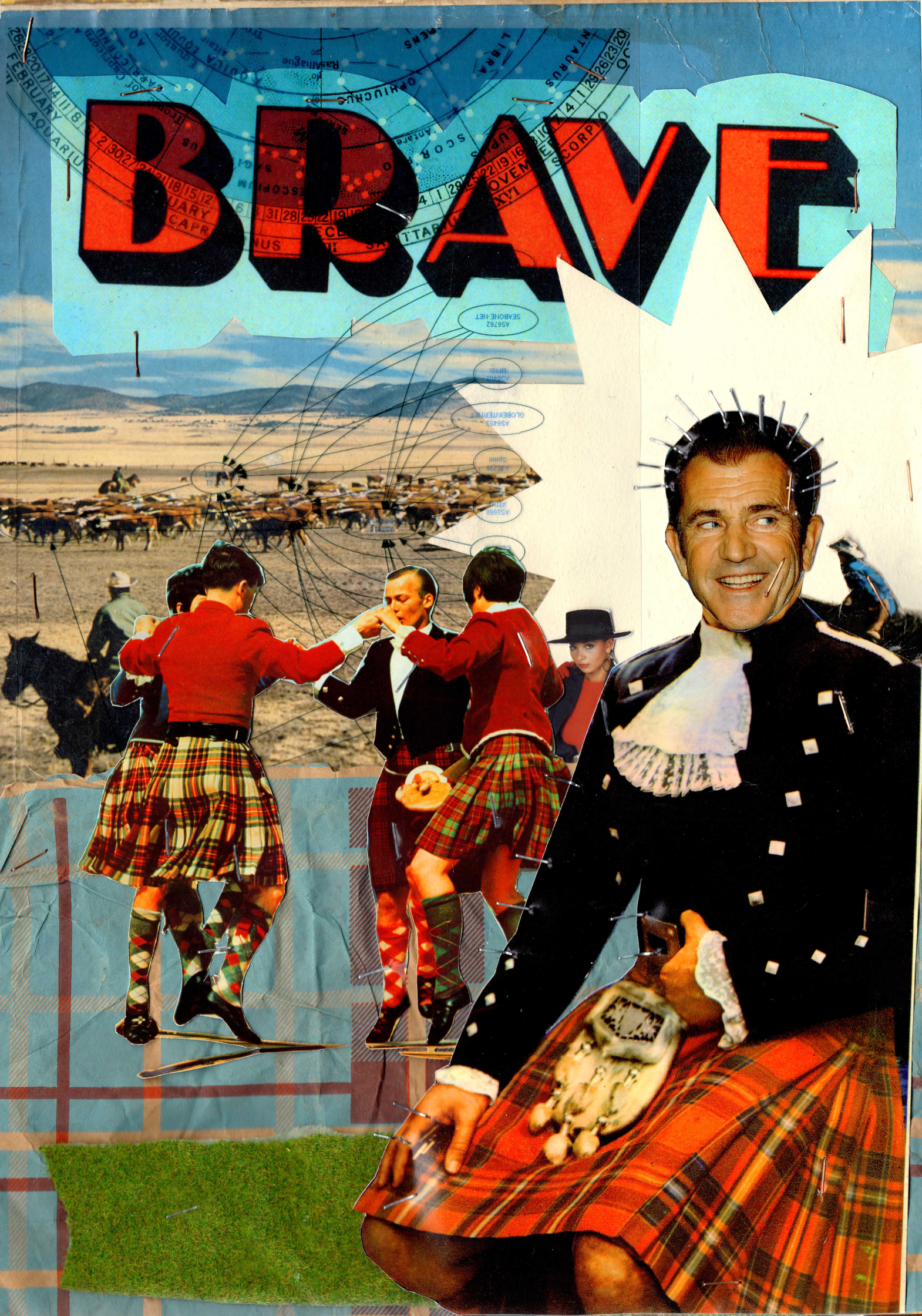 Braveheart Mel Gibson Scottish Collage