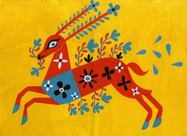 Deer on Yellow.JPG