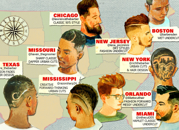 Men's Hair Styles Barber Map 4