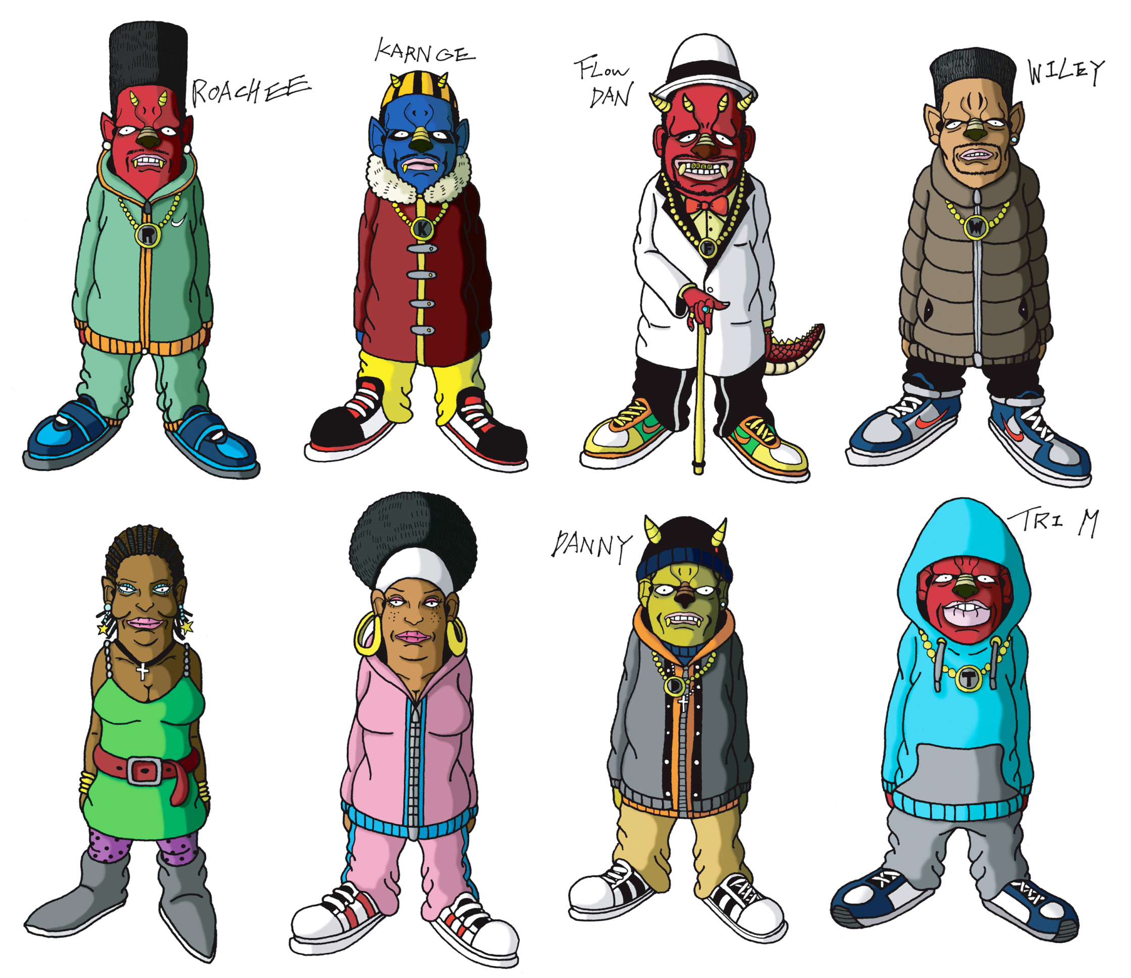 Roll Deep Characters