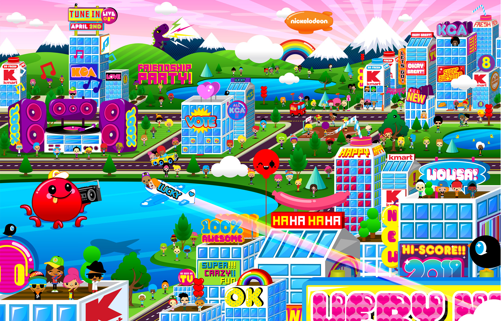 Nickelodeon & K-Mart KCA Party Sweepstakes 2011 Cityscape