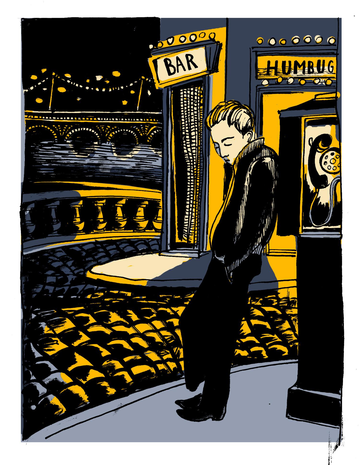 Bar Humbug Night Scene
