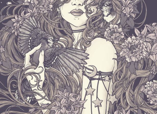 DMB Fan Group - Rapunzel - Screen Print - Erica Williams - Lavender.jpg