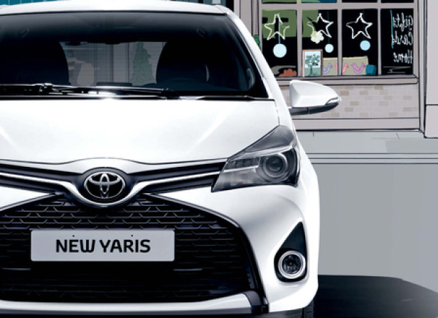 City Car Pullout / Toyota Yaris